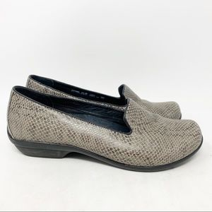 Dansko Olivia flat comfort snake print loafers